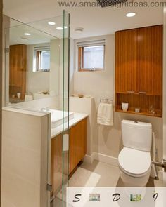 A small bathroom remodel can be deceptive. Worry too much and you may be delightfully surprised that you pulled it off with such ease. Tiny Bathrooms, Ensuite Bathrooms, Bathroom Design Small, Kitchen Design, Bathroom Designs, Make A Closet, Diy Bathroom Remodel, Clever Design, Corner Bathtub