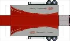 18 Wheel Truck Paper Templates   teken/fotoprogramma op de juiste maat uitprinten.