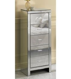 Image for Mirrored Glass 5 Drawer Tallboy from studio