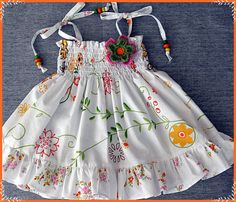 Patterned White Candy Dress by CandyDressShop on Etsy