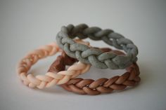 Delighted Momma: DIY Braided Clay Bracelet