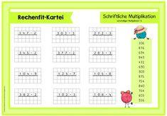 Rechenfit-Kartei (Teil 3) Schriftliche Multiplikation