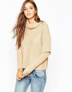 ASOS+Jumper+with+High+Neck+and+Double+Layer