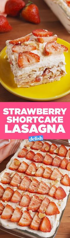 Strawberry Shortcake LasagnaDelish