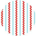 Creative Thursday, Santa Clause Is Coming To Town, Ric Rac Stripe Aqua