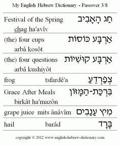 Passover 3/8