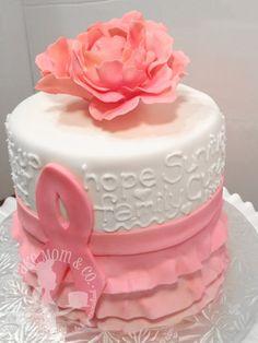 Pink Ribbon Breast Cancer Survivor Cake