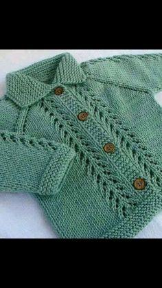 Chaqueta bebé tejido a palillos.
