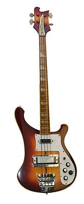 Vintage 1980 Rickenbacker 4001 Bass Guitar - Fireglo - With Hard Case. Yep I wanted one of these real bad a long time ago in a galaxy far far away.
