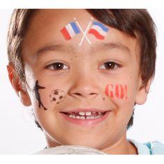 Maquillage Supporter avec le pochoir maquillage Grim'Tout - Sport