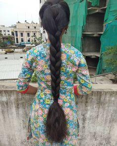 Long Hair Indian Girls, Indian Long Hair Braid, Indian Hairstyles, Bride Hairstyles, Down Hairstyles, Long Silky Hair, Long Black Hair, Braids For Long Hair, Braid Hair