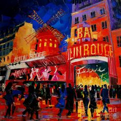 An Evening At Moulin Rouge Painting by EMONA Art - An Evening At Moulin Rouge Fine Art Prints and Posters for Sale