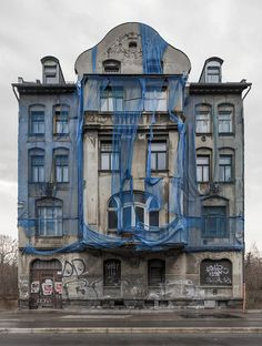 Awaiting on Behance - Abandoned buildings in Leipzig Abandoned Buildings, Abandoned Places, Berlin Paris, Public Art, Old Houses, Haunted Houses, Installation Art, Life Is Beautiful, Germany