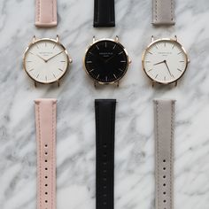 All the leather straps are interchangeable, so you can easily match your watch with the rest of your outfit. #ROSEFIELD