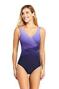 d6a6da8dec Women s Slender Wrap One Piece Swimsuit with Tummy Control Print Women  Swimsuits