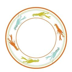 Lobster paper plates