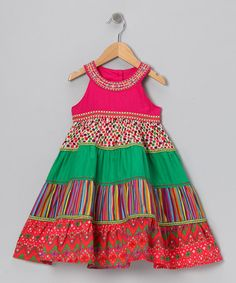Take a look at this Colourful Printed Cotton Sundress - Toddler & Girls by Chit-Chat on #zulily today!