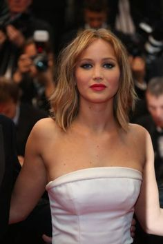 images, cannes 2013 Jennifer Lawrence, hairstyle, makeup