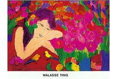 Walasse Ting, Flowers-Lady