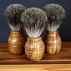 Get your Dad a classy Fathers Day gift this year.  This shaving brush is handmade with, sustainably and organically grown Teak wood and high quality badger hair, this brush will be a great addition to your shaving collection. With a sleek and easy to grip handle, you will be able to lather to perfection
