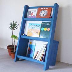 Amazon.co.jp: ほろほろ森「絵本のほんだな」青 こども家具/絵本棚/マガジンラックにも: ホーム&キッチン