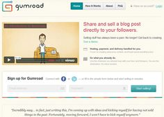 Gumroad - Share and sell the stuff you make directly to your followers. http://gumroad.com/