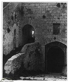Peñíscola, foto antigua del patio del castillo • Fotos Peñíscola