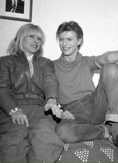 Candid portrait of Debbie Harry and David Bowie..