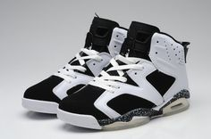 Air Jordan 6 Retro White Black Shoes