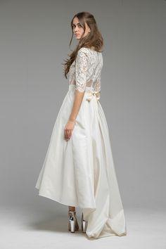 Striking Hi-low Wedding Dress 'Summer' from Katya Katya Shehurina