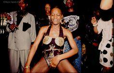 Ragga Girls Dancing at Trendz Ragga Night Club, Amherst Road, Hackney. London, UK 1993. #90s, #Black, #Club, #Culture, #Dance, #Dancehall #Girls, #England, #Fashion, #Girls, #British #Jamaican, #London, #Moda, #Mode, #Music, #Ragga, #Reggae, #Style, #Travel, #Night #Club, #UK,  #Urban, Dance #Wayne #Tippetts, #Women Photo  © Wayne Tippetts Fashion Group, School Fashion, Dancehall Videos, Absolut Elyx, 90s Costume, African American Fashion, Jamaican Music, Caribbean Culture, Black Ballerina