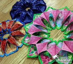 We love making the Fold'n Stitch Wreaths and Blooms for gifts and decorations! Read more at StitchCraft of Boca: Fold'n Stitch Wreaths, Blooms, & Leaf Toppers