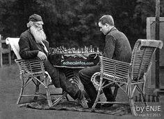 Léon Tolstoï joue aux échecs