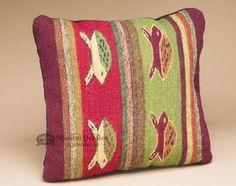 Southwest Pattern Pillow - Hand Woven Zapotec 12x16 (L)