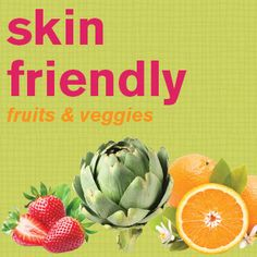 #article Skin Friendly Fruits and Veggies // from the DERMAdoctor #blog #skincare