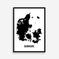 """Plakat med Danmarkskort"" Nettet eller kan måske fåes i rosengårdcentreret i lilla gade"