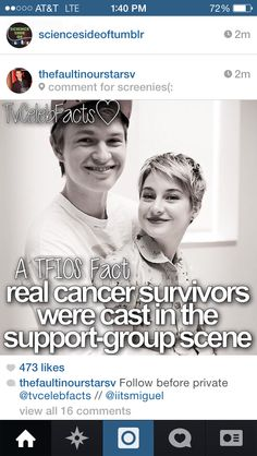Tfios facts...AWWW <3 this just made it way better!
