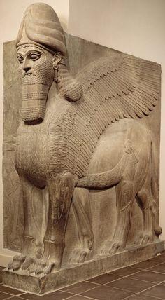 Human-headed winged lion (lamassu)