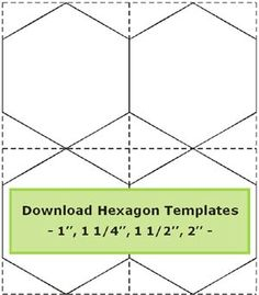 Tips for cutting hexagon templates /Geta's Quilting Studio