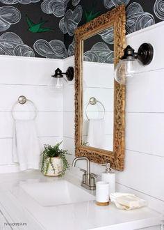 Crazy Wonderful: shiplap bathrooms
