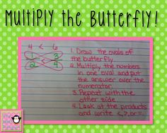 Multiply the Butterfly {comparing and ordering fractions}