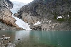 Hiking up to the Briksdal Glacier