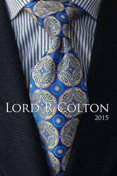 Lord R Colton Masterworks Tie - Isla Negra Blue Woven Silk Necktie - $195 New #LordRColton #NeckTie