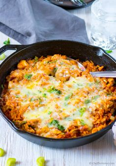 One Pot Buffalo Chicken and Rice Casserole Recipe | ChefDeHome.com