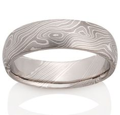Birch Mokume in Pd950, 14k Pd White Gold and Silver