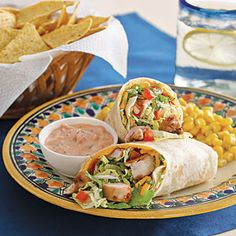 DINNER TONIGHT   Mexican Chicken Wrap | MyRecipes.com  Ingredients I changed from this recipe  green salsa verde instead of regular salsa,  no mayonnaise, no hot sauce, added black beans, and I purchased the fajita chicken from the store already cooked, and  1 can rotel instead of tomatoes....yummy!