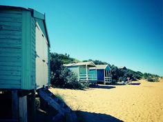 Beach huts. Hunstanton, England