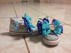Items similar to Rainbow Dash / My little Pony Shoes.Can be Personalized on Etsy My Little Pony Shoes, My Little Pony Pictures, Rainbow Dash, Baby Shoes, Horses, Trending Outfits, Unique Jewelry, Handmade Gifts, Party