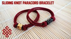 Sliding Knot Paracord Bracelet Tutorial Here's another way to tie a paracord sliding knot bracelet. This time we embellish the simple sliding knot bracelet with hex nuts and beads to give it a touch of class! Let me know what you all think!