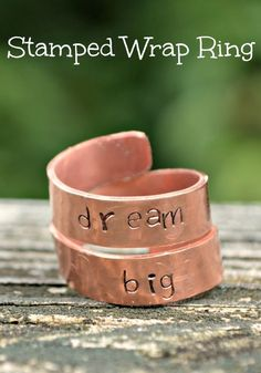 Stamped Wrap Ring #MyBrilliantIdea #CleverGirls